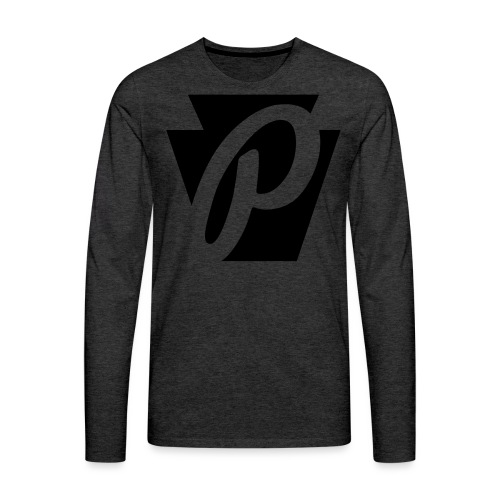 P Stone Logo - Men's Premium Long Sleeve T-Shirt