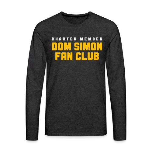 Dom Simon Fan Club - Men's Premium Long Sleeve T-Shirt