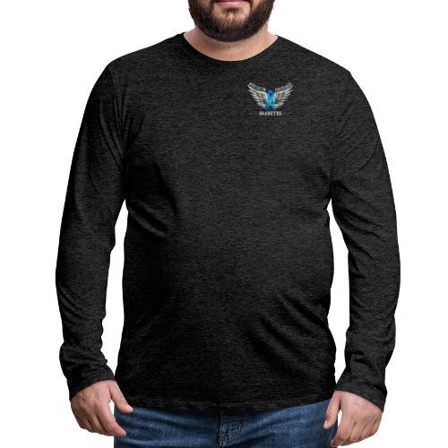 Diabetes - Strength and Courage - Men's Premium Long Sleeve T-Shirt
