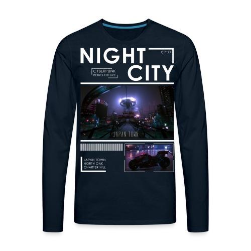 Night City Japan Town - Men's Premium Long Sleeve T-Shirt