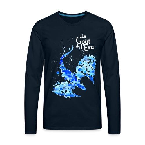 Gouttes de Dragon avec logo en blanc - T-shirt Premium à manches longues pour hommes