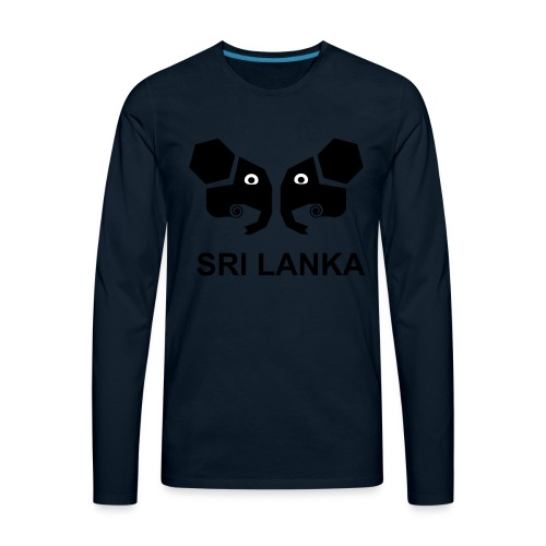Elephants of Sri Lanka - Men's Premium Long Sleeve T-Shirt