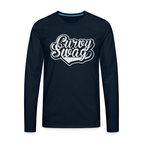 Curvy Swag Reversed Out Design - Men's Premium Long Sleeve T-Shirt