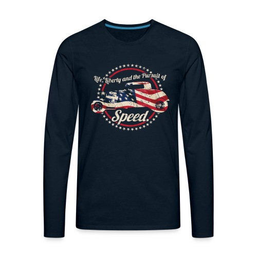 Life, Liberty and the Pursuit of Speed USA Hot Rod - Men's Premium Long Sleeve T-Shirt