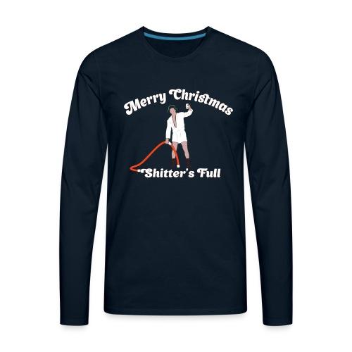 Cousin Eddie - Shitter's Full! - Men's Premium Long Sleeve T-Shirt