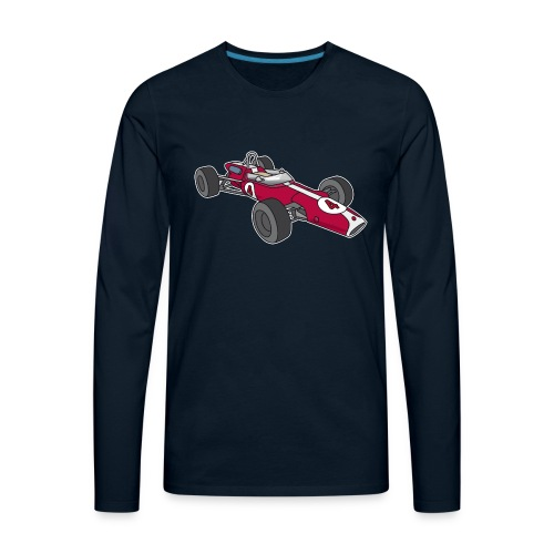 Red racing car, racecar, sportscar - Men's Premium Long Sleeve T-Shirt