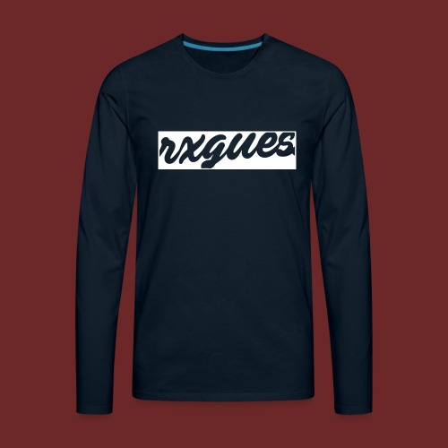 NEGATIVE SPACE KIDS HOODIE - Men's Premium Long Sleeve T-Shirt