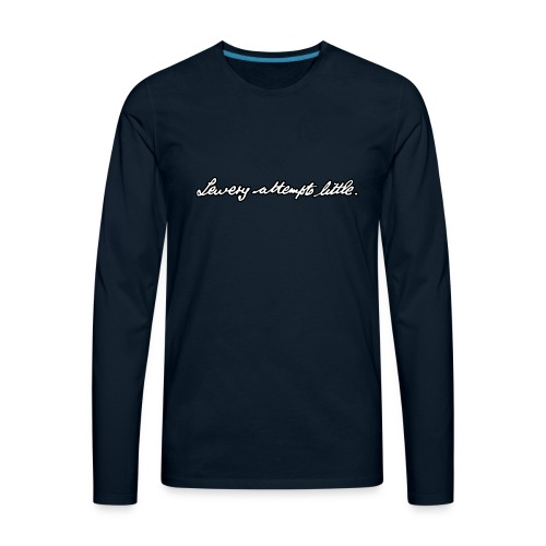Lewery Attempts Little - Men's Premium Long Sleeve T-Shirt