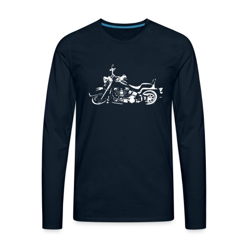 Classic American Motorcycle Abstract - Men's Premium Long Sleeve T-Shirt