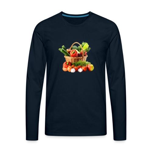 Vegetable transparent - Men's Premium Long Sleeve T-Shirt