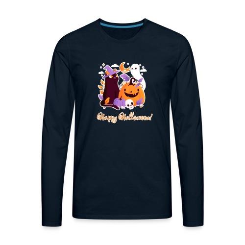 Halloween happy - Men's Premium Long Sleeve T-Shirt