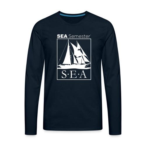 SEA_logo_WHITE_eps - Men's Premium Long Sleeve T-Shirt