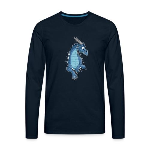 STUCK Blue Dragon (front) - Men's Premium Long Sleeve T-Shirt