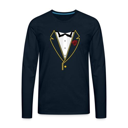 FUNK TUX - GOLD LINE - Men's Premium Long Sleeve T-Shirt