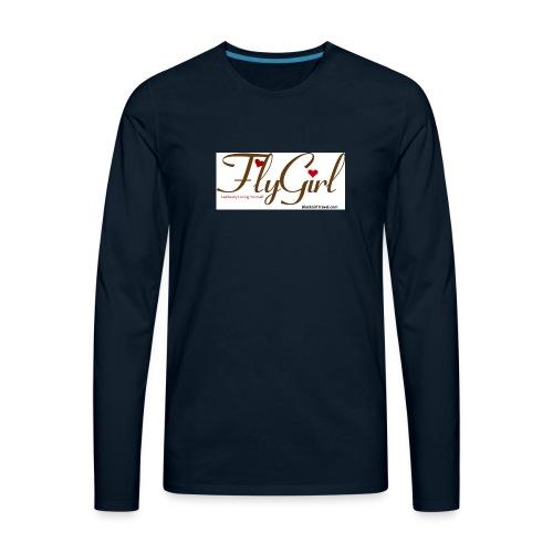 FlyGirlTextGray jpg - Men's Premium Long Sleeve T-Shirt