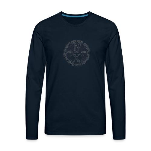 TCF 10th Anniversary (Grey) - Men's Premium Long Sleeve T-Shirt