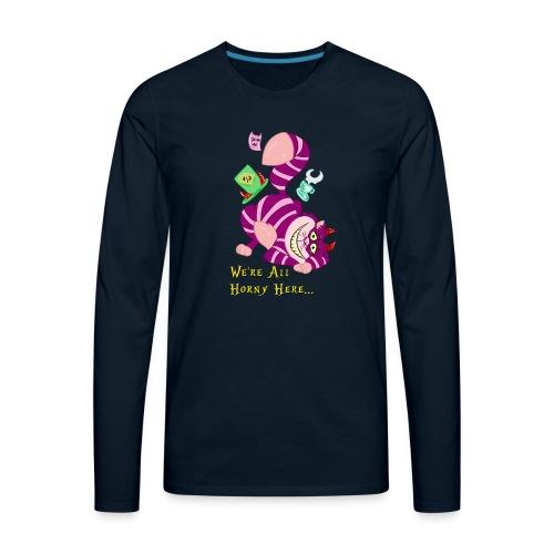 Cheshire Cat - Men's Premium Long Sleeve T-Shirt