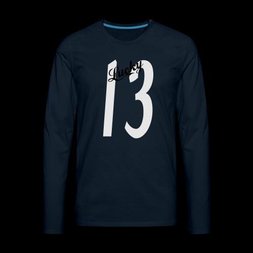 Lucky Thirteen - Men's Premium Long Sleeve T-Shirt