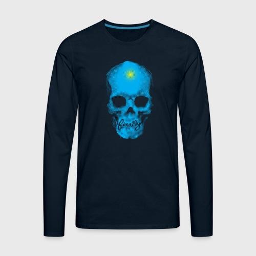 Finally Skull Cyan - Men's Premium Long Sleeve T-Shirt