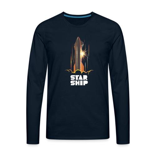 Star Ship Mars - Dark - Men's Premium Long Sleeve T-Shirt
