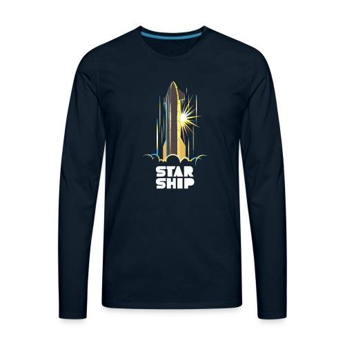 Star Ship Earth - Dark - Men's Premium Long Sleeve T-Shirt