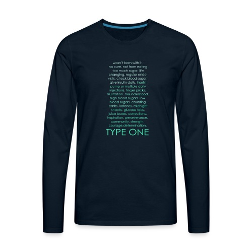 The Inspire Collection - Type One - Green - Men's Premium Long Sleeve T-Shirt