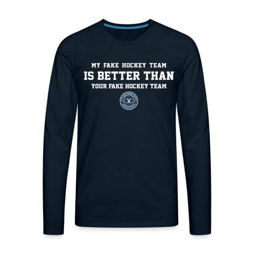 Fake Hockey (dark) - Men's Premium Long Sleeve T-Shirt