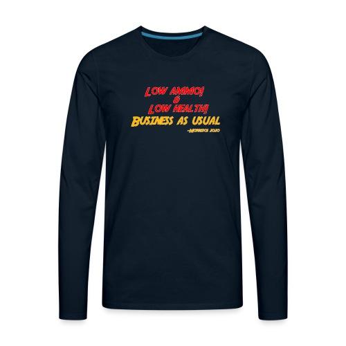 Low ammo & Low health + Logo - Men's Premium Long Sleeve T-Shirt