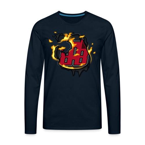 BAB Logo on FIRE! - Men's Premium Long Sleeve T-Shirt