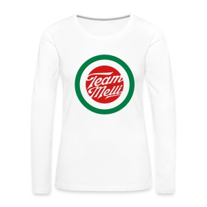 TEAM MELLI RETRO BADGE - Women's Premium Long Sleeve T-Shirt