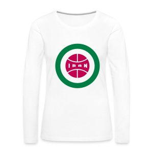 Retro round Iran badge - Women's Premium Long Sleeve T-Shirt