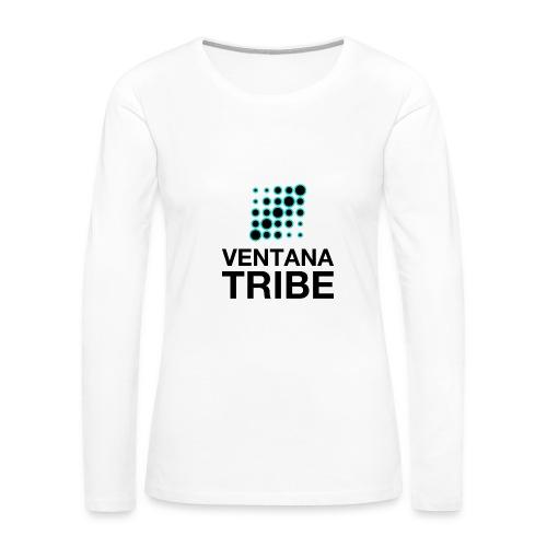 Ventana Tribe Black Logo - Women's Premium Long Sleeve T-Shirt
