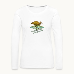 BIRDER - White-faced ibis - Carolyn Sandstrom - Women's Premium Long Sleeve T-Shirt