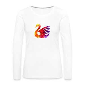 psychedelic swan tshirt image - Women's Premium Long Sleeve T-Shirt