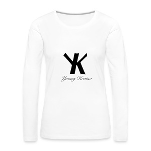 Young Kevino Official Logo (Black) - Women's Premium Long Sleeve T-Shirt