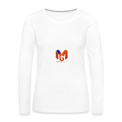 MaddenGamers MG Logo - Women's Premium Long Sleeve T-Shirt