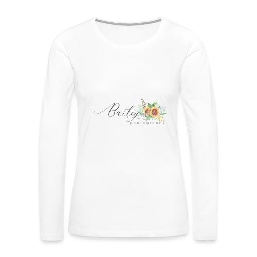 Bailey's Photography Logo - Women's Premium Long Sleeve T-Shirt