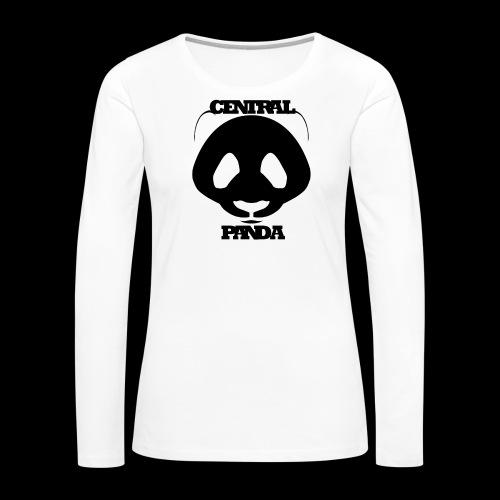 Central Panda in White - Women's Premium Long Sleeve T-Shirt