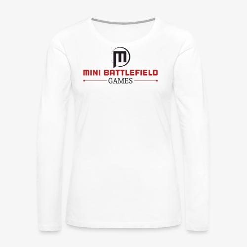 Mini Battlefield Games Logo - Women's Premium Long Sleeve T-Shirt