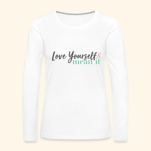 LYMI Logo Full Name - Women's Premium Slim Fit Long Sleeve T-Shirt