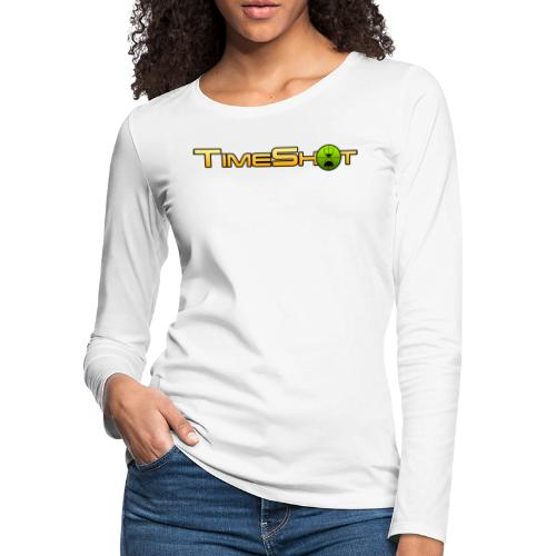 TimeShot Logo Text - Women's Premium Long Sleeve T-Shirt