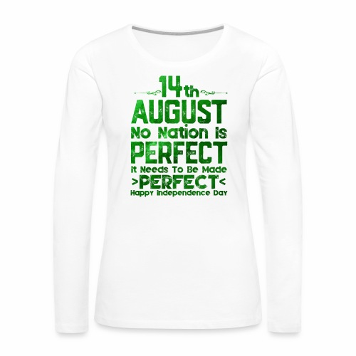 14th August Independence Day - Women's Premium Long Sleeve T-Shirt