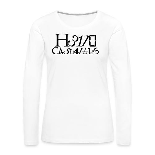 Hello Casualties Leet - Women's Premium Long Sleeve T-Shirt