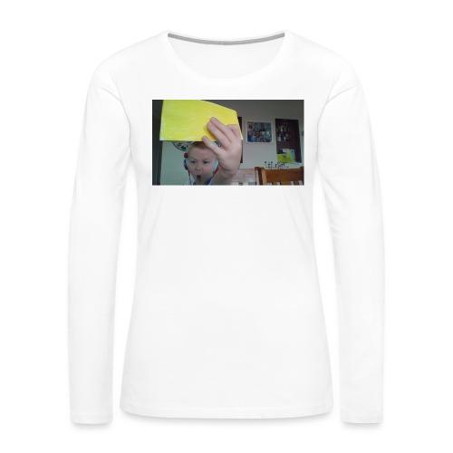 the paper golden shirt - Women's Premium Long Sleeve T-Shirt