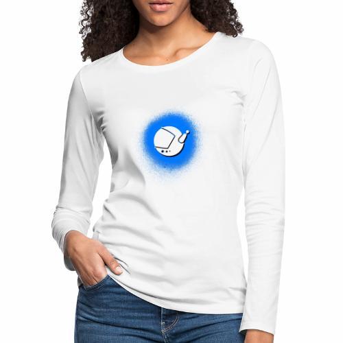 Blue Spray Paint Logo - Women's Premium Long Sleeve T-Shirt
