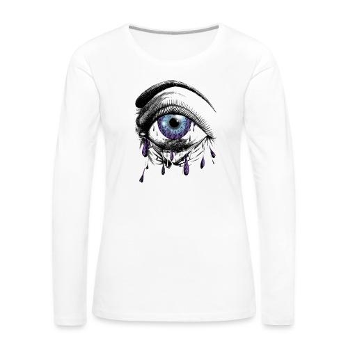 Lightning Tears - Women's Premium Slim Fit Long Sleeve T-Shirt