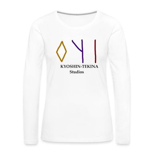 Kyoshin-Tekina Studios logo (black test) - Women's Premium Long Sleeve T-Shirt