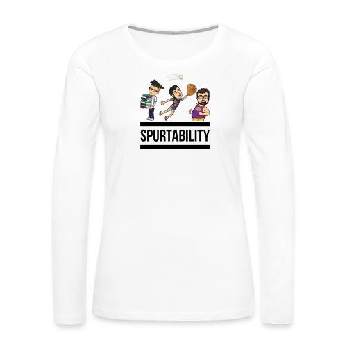 Spurtability Black Text - Women's Premium Long Sleeve T-Shirt