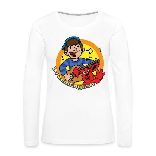 dreamenglishlogo-L - Women's Premium Slim Fit Long Sleeve T-Shirt