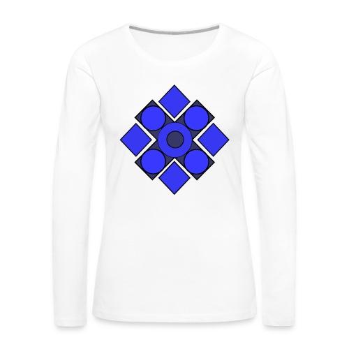 Geometric Cerulean - Women's Premium Long Sleeve T-Shirt